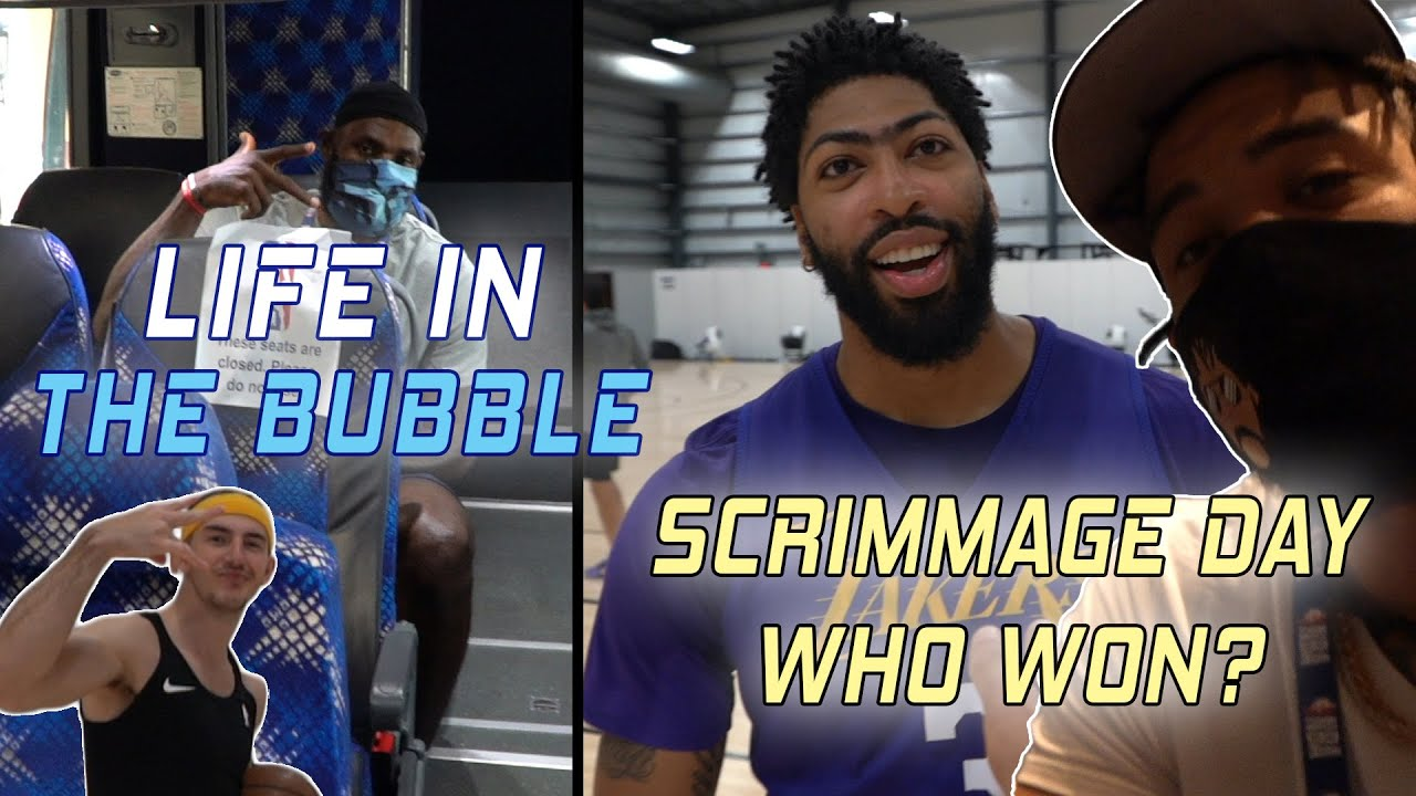 Life in the Bubble - Full Team Scrimmage! Who Won?! ? | JaVale McGee Vlogs