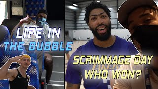 Life in the Bubble - Full Team Scrimmage! Who Won?! 👀 | JaVale McGee Vlogs