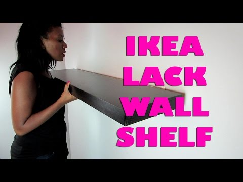 How to Install a Floating Wall Shelf - Ikea Lack