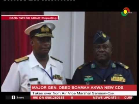 Major Gen  Obed Boamah Akwa appointed as acting Chief of Defense - 9/2/2017 Staff
