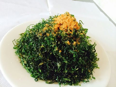 Deep fried seaweed 海草的做法
