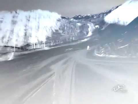Красная Поляна Аибга спуск на лыжах с падением
