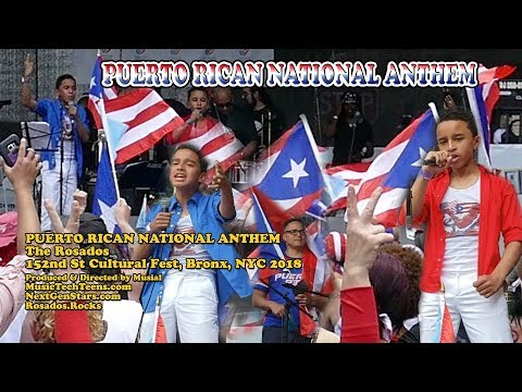 Puerto Rican National Anthem by The Rosados in the Bronx NYC 2018