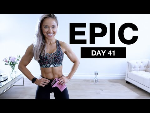 Day 41 of EPIC | Hamstring and Glute Isolation Workout [HIP THRUSTS at Home]