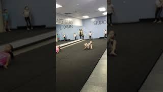 My daughter Ariel in Gymnastics