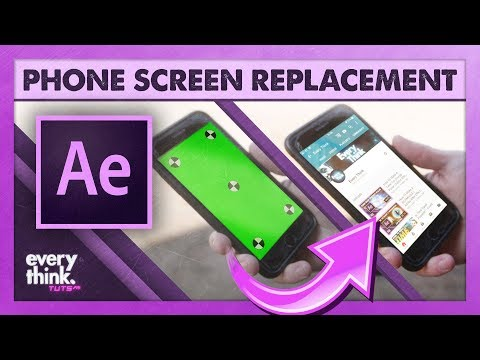 Basic Screen Replacement   Adobe After Effects VFX Tutorial