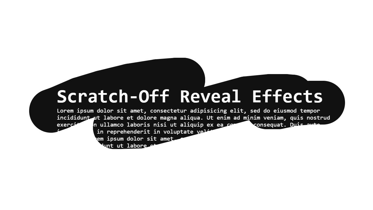 Scratch-Off Reveal Content Effects using p5.js