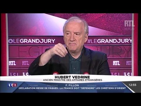 Hubert Védrine était l'invité du Grand Jury, dimanche 16 avril 2017