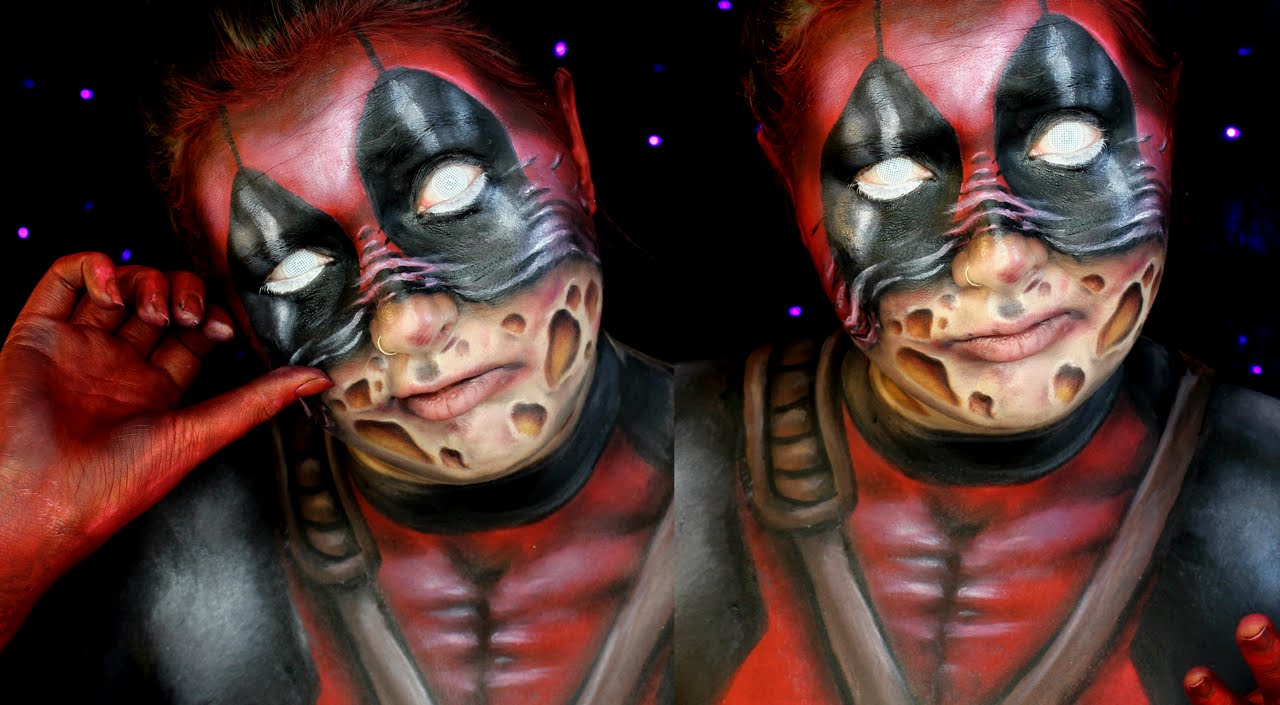 deadpool scarface halloween makeup tutorial jordan hanz