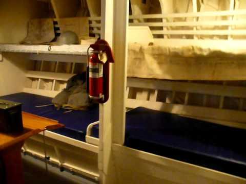 Inside elco PT Boat at battleship Cove - YouTube
