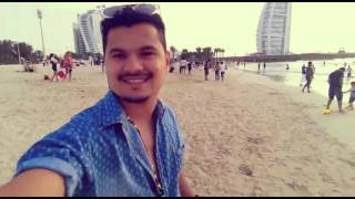 Jumeirah beach near burj al arab beach view😊😃😎...
