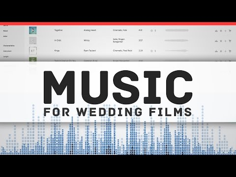 How to Find and License Music for your Wedding Films