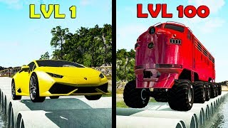 Level 1 Rookie vs. Level 100 Boss #5 - Beamng drive