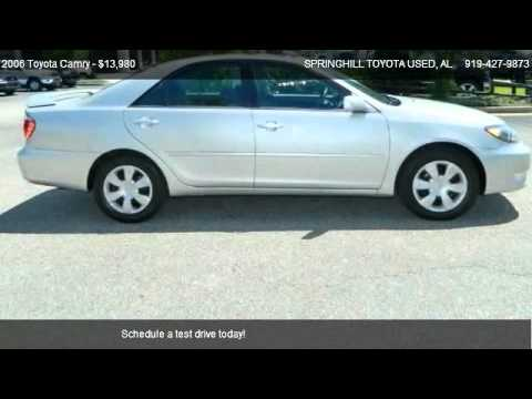 2006 toyota camry for sale in mobile al 36606 youtube. Black Bedroom Furniture Sets. Home Design Ideas