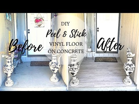 DIY PEEL & STICK VINYL FLOOR INSTALL | FRONT PORCH MAKEOVER