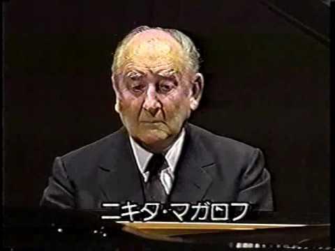 Nikita Magaloff in recital 4/4/1991 Tokyo