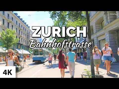 🇨🇭 ZURICH CITY SWITZERLAND - Bahnhofstrasse