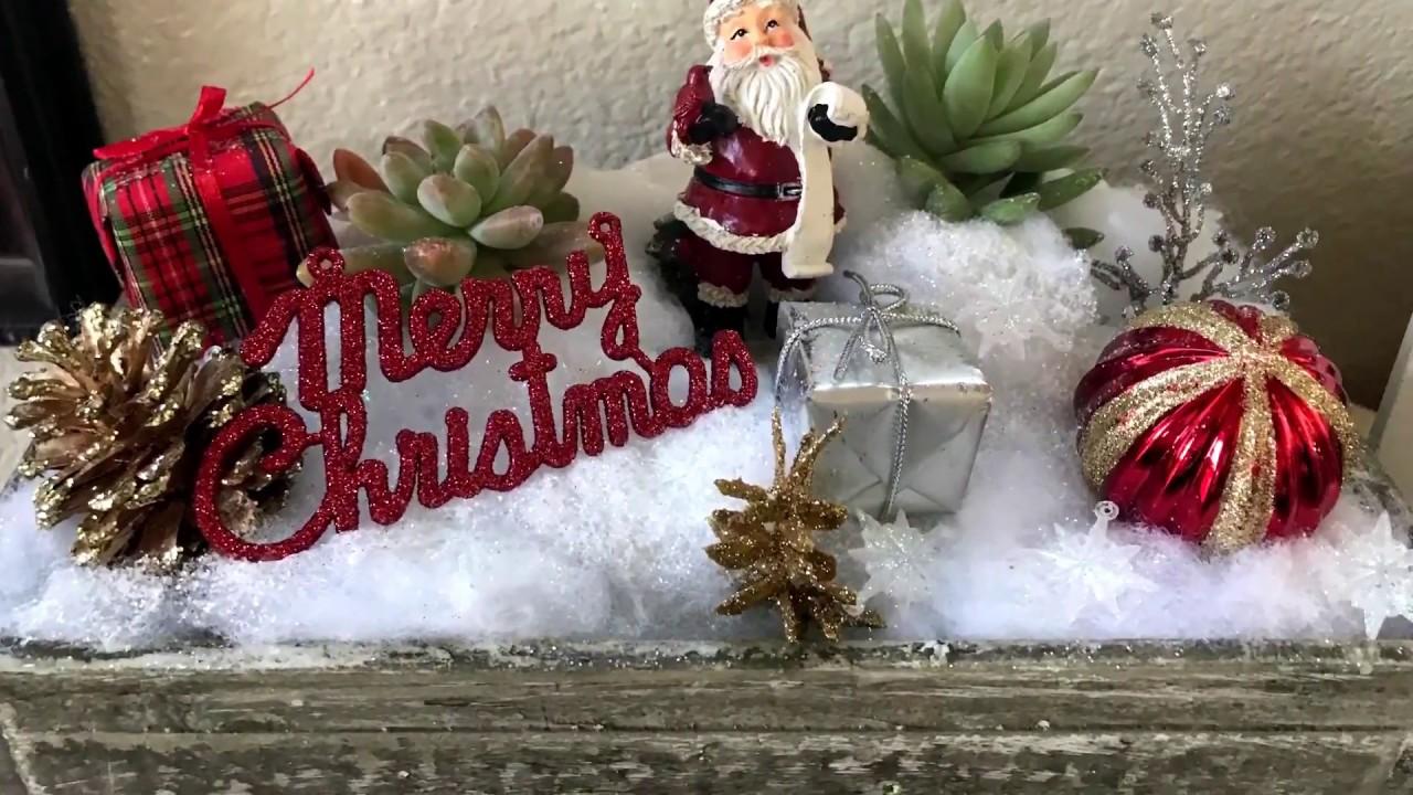 Christmas Succulent Planters.White Christmas Succulent Planter Diy