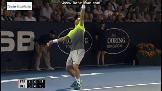 【テニス】J.デルポトロvsD.フェレール ASBクラシック2018 準決勝