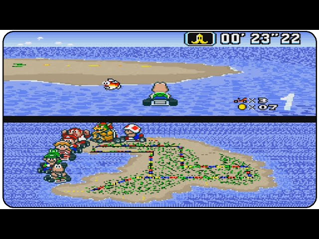 Super Mario Kart All 20 Tracks