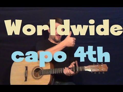 Worldwide (Big Time Rush) Easy Guitar Lesson Strum Chords How to ...