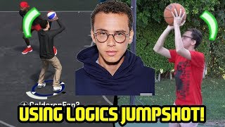One of Caldy's most viewed videos: USING LOGIC'S JUMPSHOT AT THE PARK! NBA 2K18 LOGIC