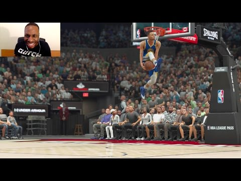 STEPHEN CURRY VS LEBRON JAMES VS MICHAEL JORDAN VS TOM BRADY IN THE SLAM DUNK CONTEST! AAH! NBA2K