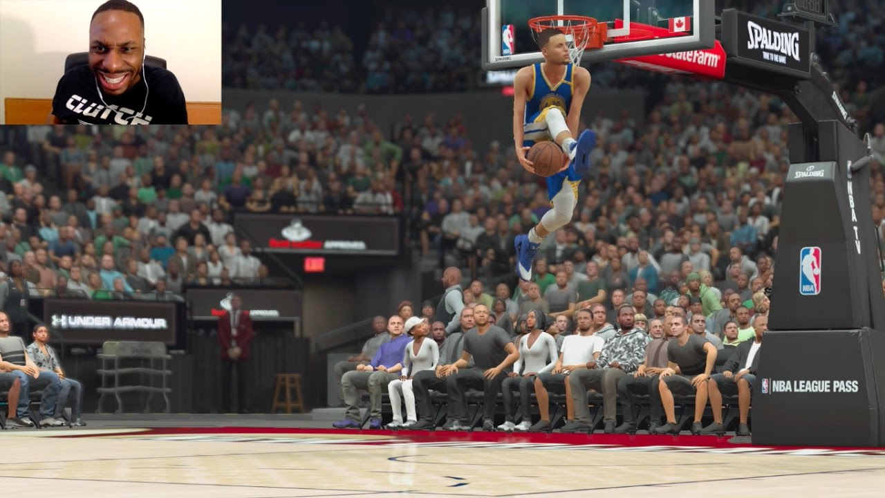 STEPHEN CURRY VS LEBRON JAMES MICHAEL JORDAN TOM BRADY IN THE SLAM DUNK CONTEST AAH NBA2K