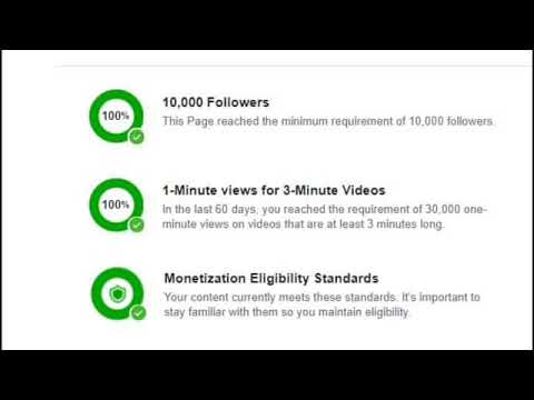 Image result for facebook video monetization eligibility pic