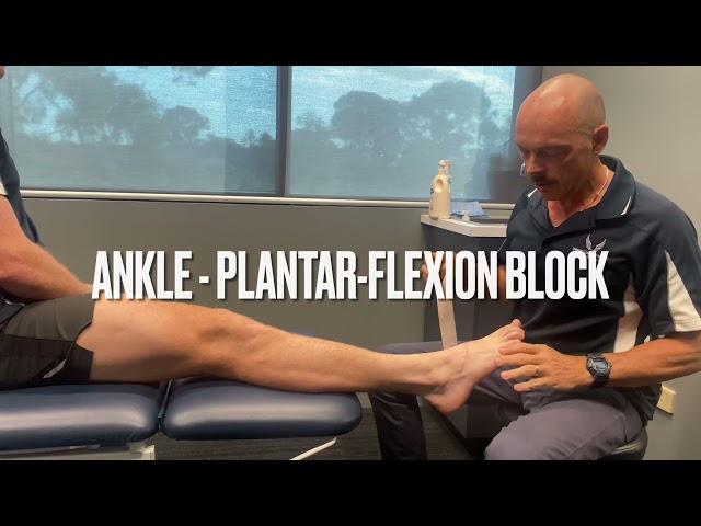 Ankle Planar-flexion block