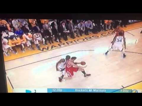 Warriors Draymond Green Pushes Donatas Montiejunas Gets Foul