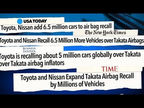 Toyota and Nissan expand Takata airbag recall