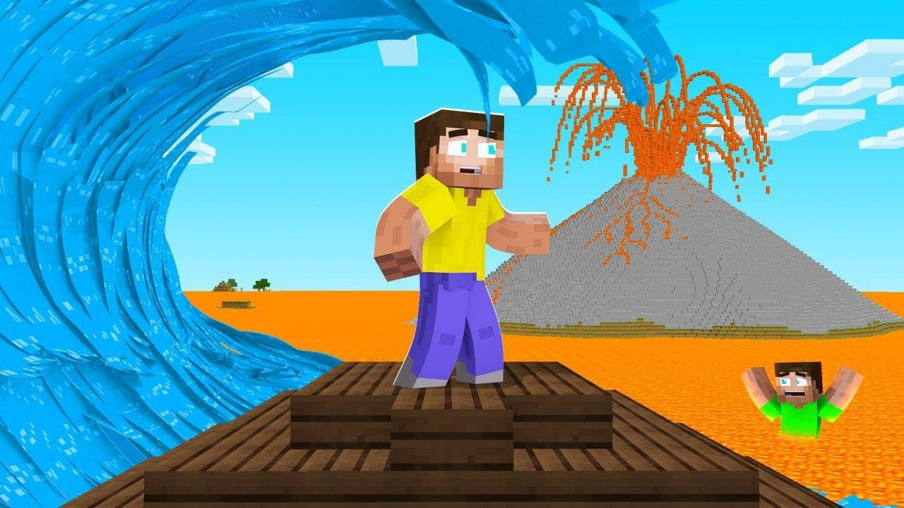 Minecraft But There S A New Natural Disaster Every 5 Minutes