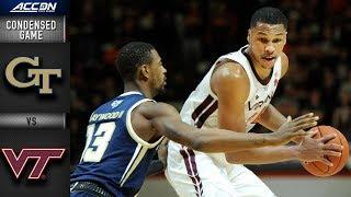 Georgia Tech  vs. Virginia Tech Hokies Condensed Game | 2018-19 ACC Basketball