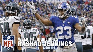Rashad Jennings' 170 yard Rushing Performance | Eagles vs. Giants | NFL Week 17 Highlights