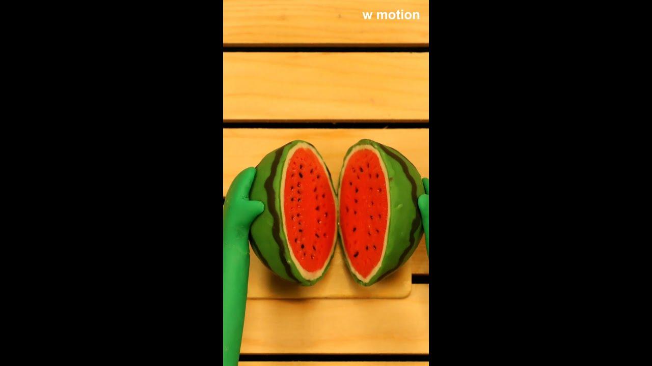 클레이로 만든 수박 watermelon #shorts