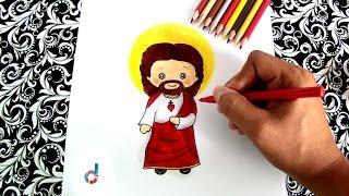 Cómo dibujar a Jesús (Jesucristo) paso a paso | How to draw Jesus Christ