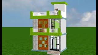 20*15 Home design in 3d ,20 by 15 house plan,20 by 15 makan ka naksha