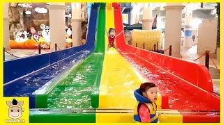 Indoor Playground Fun for Kids and Family Rainbow Play Slide Colors Ball | MariAndKids Toys