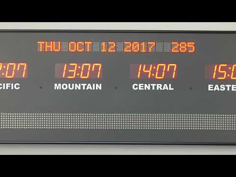 BRG Precision Product's 689I - 8 Zone, Fixed Zone,  Time Zone Clock Display