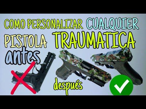 COMO PERSONALIZAR UNA GLOCK TRAUMATICA - PASO A PASO