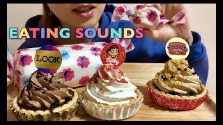 【Eating sounds】不二家!!ミルキークリームロール!!タルト!!Swiss roll!!Tart!!롤 케이크!!타르트!!《Eating show》