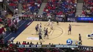 BYU's Jimmer Fredette scores 49 points against Arizona