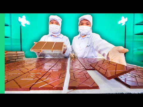 How Vietnam Makes Chocolate!! Sonny and the Chocolate Factory!!