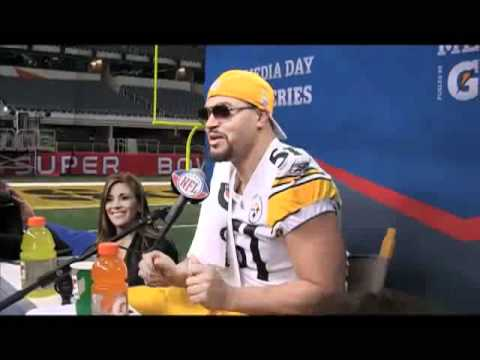James Farrior Sings Baby by Justin Bieber - Behind the Scenes at Super Bowl XLV