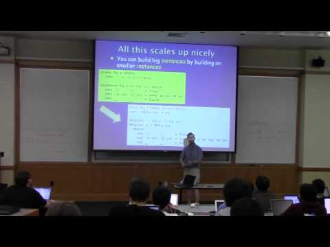 Adventure with Types in Haskell - Simon Peyton Jones (Lecture 1)