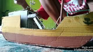 Membuat Miniatur Kapal Dari Kardus