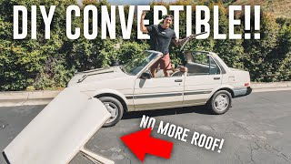 CUTTING THE ROOF OFF OF MY $500 Craigslist Project Car!