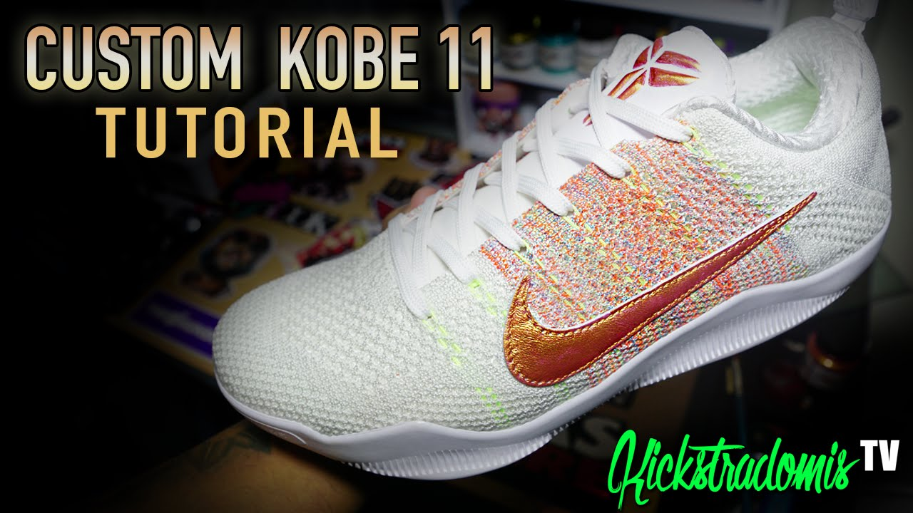 ca3c92dcd4ca CUSTOM KOBE 11 TUTORIAL - YouTube
