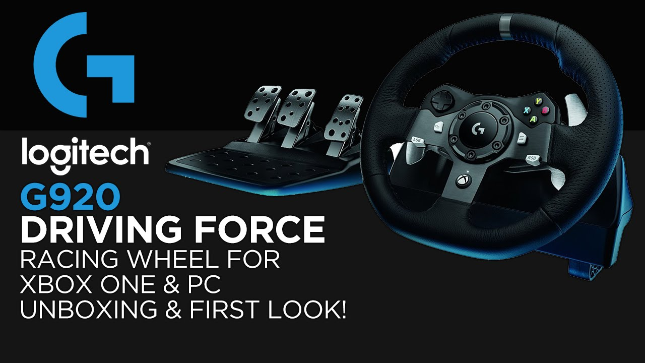 a10b3366a36 Logitech Gaming G920 Driving Force Racing Wheel Unboxing & First Look! (For  Xbox One & PC) - YouTube